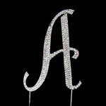 Letter A Rhinestone Crystal Cake Topper