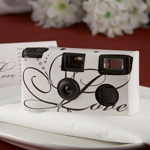 Love Disposable Wedding Camera with Table Card (White)