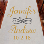 Make Your Mark Personalized Wedding Aisle Runner