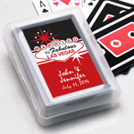 Married in Las Vegas Personalized Playing Cards