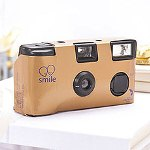 Metallic Gold Single Use Camera - Solid Color Design