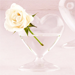 Mini Blown Glass Heart Vases - 4 pcs
