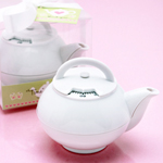 Mini White Teapot Timer Favor
