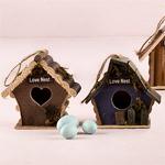 Mini Wooden Bird Houses - 4 pcs