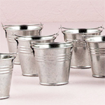 Miniature Galvanized Buckets