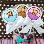 Monkey Personalized Lollipops