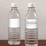 Modern Monogram Simplicity Water Bottle Label