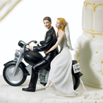 Motorcycle Get-away Couple Cake Topper