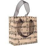 Music Print Small Paper Gift Bag