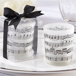 """""""Music of the Heart"""" Frosted-Glass Tealight Holder - 4 pcs"""