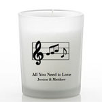 Musical Themed Frosted Glass Candle Favors