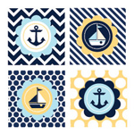 Nautical Baby Shower Decorative Favor Tags - Set of 20