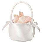 Off-White Satin Flower Basket