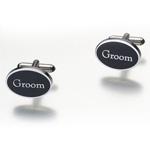 """Pair of """"Groom"""" Cufflinks"""