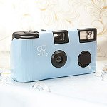Pastel Blue Single Use Camera - Solid Color Design
