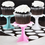 Pastel Cupcake Pedestals - 12 pcs