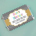 Personalized Birthday Mini Candy Bar Wrappers