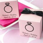 Personalized Favor Square Box For Her- Stardream
