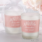 Personalized Frosted Glass Votive - Kate's Rustic Baby Shower Collection