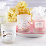 Personalized Baby Shower Glass Candle