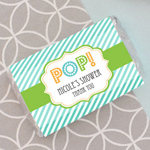 Personalized Going to Pop Blue Mini Candy Bar Wrappers