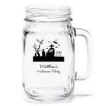 Personalized Halloween Mason Jar Drinking Glass