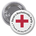 Personalized Hangover Buttons