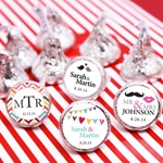 Personalized His or Hers Hershey Kisses