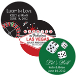 Personalized Las Vegas Round Stickers - 18 pieces
