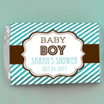 Personalized MOD Baby Silhouette Mini Candy Bar Wrappers