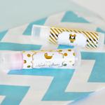 Personalized Metallic Foil Baby Lip Balm Tubes