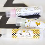 Personalized Metallic Foil Wedding Lip Balm Tubes