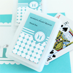 Something Blue Personalized Playing Cards