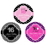 Personalized Sweet 16 (or 15) Round Favor Labels