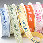 Personalized Textured Polka Dot Ribbon - 10 yds