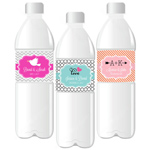 Personalized Theme Water Bottle Labels