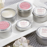 Personalized Travel Candle - Kate's Rustic Baby Shower Collection