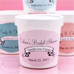 Personalized Vintage Banner Ice Cream Pint Containers