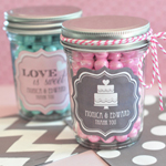 Personalized Wedding Mini Mason Jars