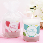 Personalized Polka Dots Frosted-Glass Votive