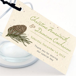 Pinecone Personalized Plantable Hang Tags