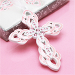 Pink Blessed Cross Favors