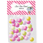 Pink Circus Party Personalized Candy Bag Toppers