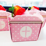 Pink Cross Cupcake Towel Favor