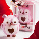 Pink Owl Candle Favor