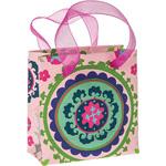 Pink Suzani Small Paper Gift Bag