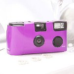 Purple Single Use Camera - Solid Color Design