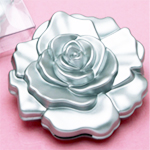 Rose Design Mirror Compacts