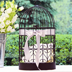 Scrolling Heart Birdcage Card Holder