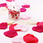 Silk Rose Petals - 100 pcs